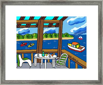View From The Porch - Cedar Key Framed Print by Mike Segal