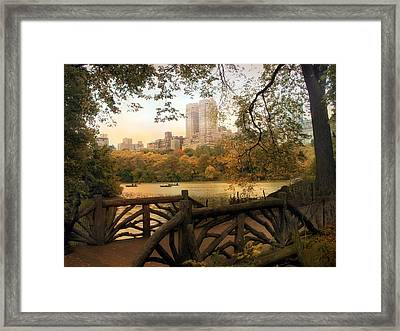 View From The Ramble Framed Print by Jessica Jenney