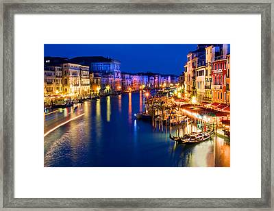 View From The Rialto Bridge Framed Print
