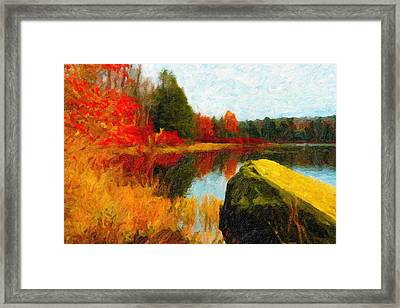 View From The Rock Framed Print