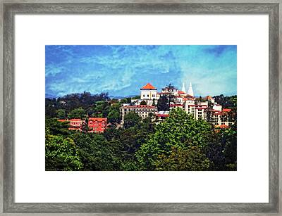 View From The Rooftop - Sintra Framed Print by Mary Machare