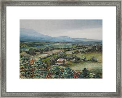 View From The Taconic Framed Print