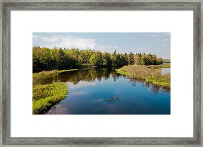 View From The Tobie Trail Bridge Framed Print by David Patterson