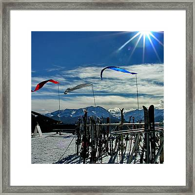 View From The Top - Beaver Creek Framed Print by Jacqueline M Lewis