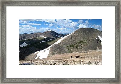 View From The Top Framed Print by Claudette Bujold-Poirier