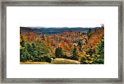 View From The Top Of Mccauley Mountain Framed Print by David Patterson