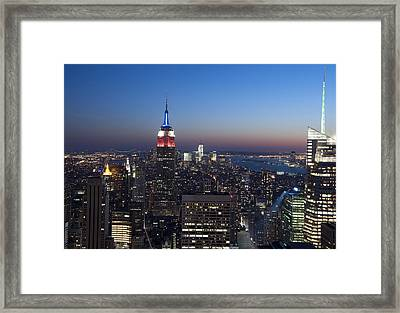 View From The Top Of The Rock Framed Print by David Yack
