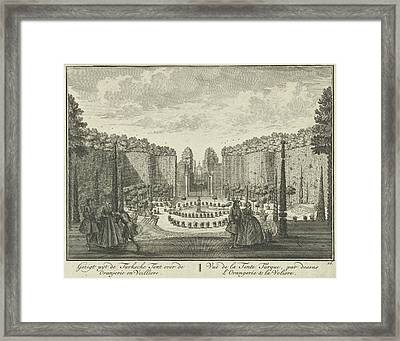 View From The Turkish Tent On The Orangery And The Aviary Framed Print by Hendrik De Leth