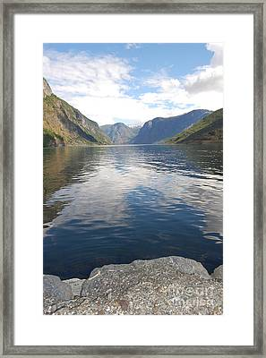 Framed Print featuring the photograph View From The Village by Linda Prewer