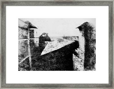 View From The Window At Le Gras Framed Print