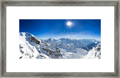 View From Titlis Mountain Towards The South Framed Print