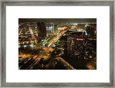View From Top Of The Hyatt Framed Print