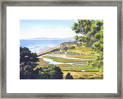View From Torrey Pines Del Mar Framed Print by Mary Helmreich