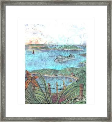 View From Tourtuga Framed Print