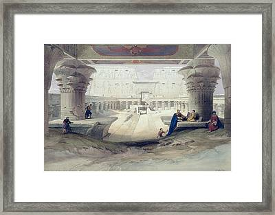 View From Under The Portico Of Temple Framed Print by David Roberts