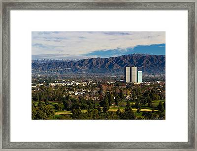 View From Universal Studios Hollywood Framed Print