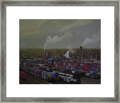 View From Viaduct Framed Print by Thu Nguyen