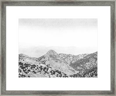 View From Virginia City Nevada Framed Print by Frank Wilson