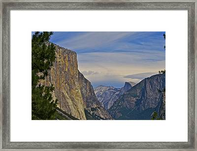 View From Wawona Tunnel Framed Print