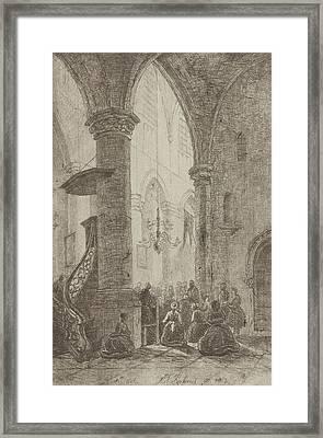 View In A Church, Eberhard Cornelis Rahms Framed Print by Eberhard Cornelis Rahms