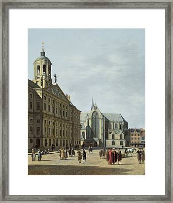 View In Amsterdam, With The Facade Framed Print by Gerrit Adriaensz Berckheyde