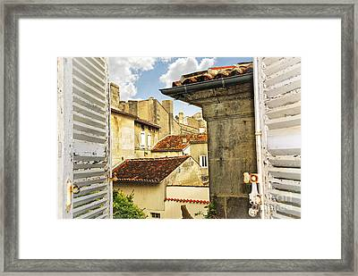 View In Cognac Framed Print