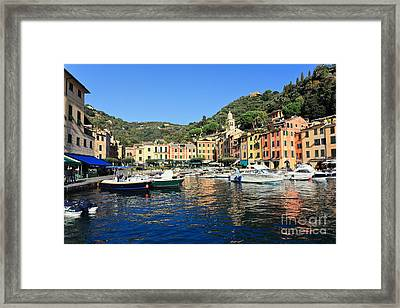 view in Portofino Framed Print