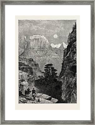 View In Utah Temple Of The Virgin Mu-koon-tu-weap Valley Framed Print