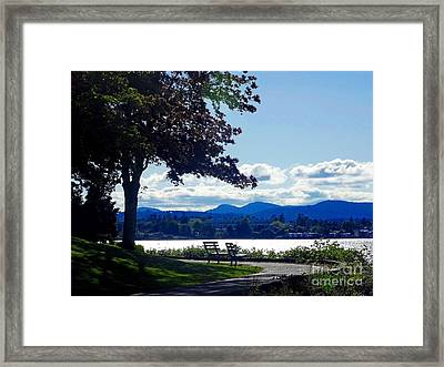 View In Victoria B C Canada Framed Print
