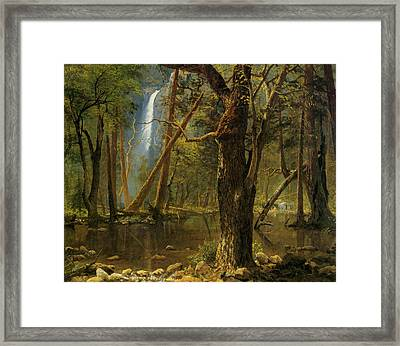 View In Yosemite Valley 1871 Framed Print by Albert Bierstadt