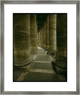 View Inside The Colonnade Photo Framed Print