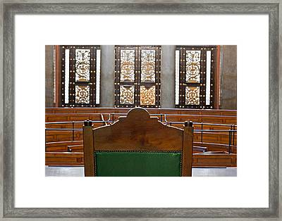 View Into Courtroom From Judges Chair Framed Print by Ken Biggs