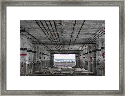 View Into Packard Plant In Detroit  Framed Print