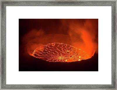 View Into The Heart Of Earth Framed Print by Guenterguni
