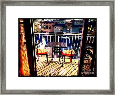 Framed Print featuring the photograph View by Leslie Hunziker
