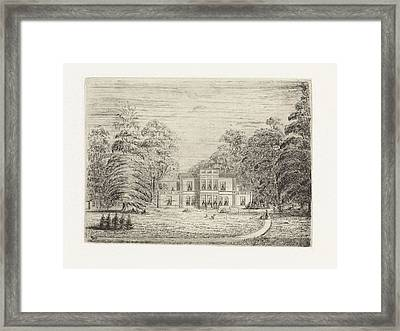 View Of A Country Estate In Baarn, The Netherlands Framed Print
