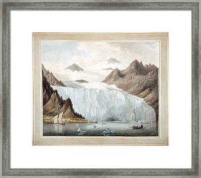 View Of A Glacier Framed Print by British Library