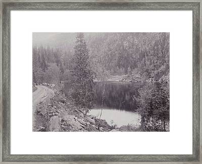 View Of A Lake In A Mountain Landscape Norway Framed Print by Artokoloro