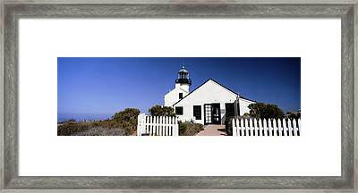 View Of A Lighthouse, Point Loma Framed Print