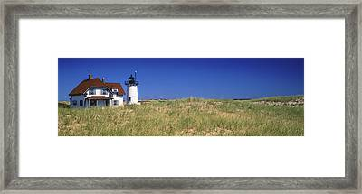 View Of A Lighthouse, Race Point Light Framed Print by Panoramic Images