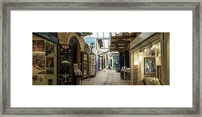 View Of A Market, Safed Zfat, Galilee Framed Print