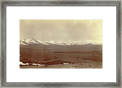 View Of A Plain And The Snowy Mountains Of Chumlahari Framed Print by Artokoloro
