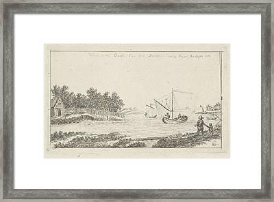 View Of A River, Charles Joseph Emmanuel De Ligne Framed Print by Charles Joseph Emmanuel De Ligne And Barsch