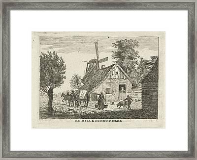 View Of A Village, Hendrik Roosing Framed Print by Hendrik Roosing
