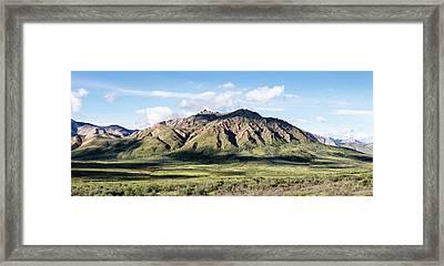 View Of Alaska Range Near Polychrome Framed Print