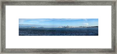 View Of Alcatraz Island And San Framed Print by Panoramic Images