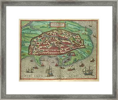 View Of Alexandria Framed Print by British Library