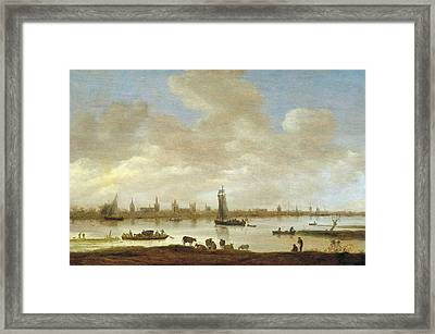 View Of An Imaginary City Framed Print