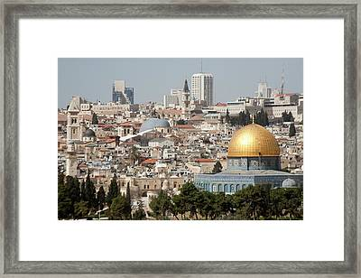 View Of Ancient Walled City Framed Print by Dave Bartruff