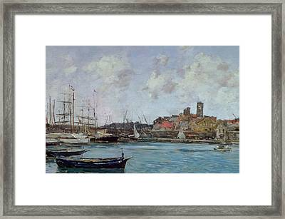 View Of Antibes Framed Print by Eugene Louis Boudin